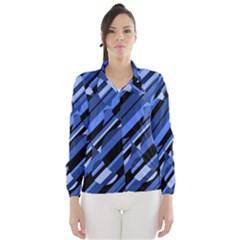 Blue pattern Wind Breaker (Women)