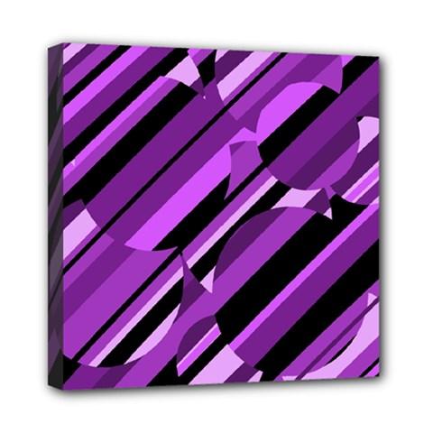 Purple pattern Mini Canvas 8  x 8