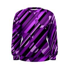 Purple pattern Women s Sweatshirt