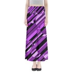 Purple pattern Maxi Skirts