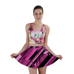 Magenta pattern Mini Skirt