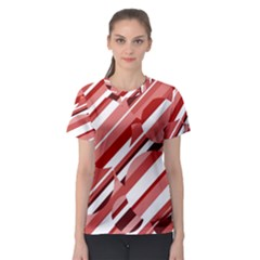 Orange pattern Women s Sport Mesh Tee