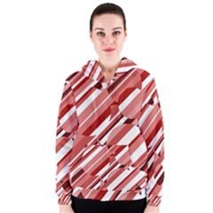 Orange pattern Women s Zipper Hoodie