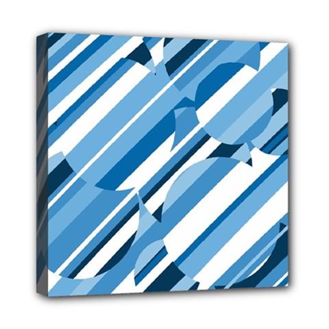 Blue pattern Mini Canvas 8  x 8