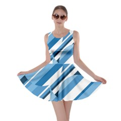Blue pattern Skater Dress