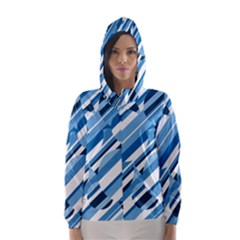 Blue pattern Hooded Wind Breaker (Women)