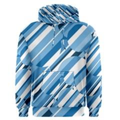 Blue pattern Men s Pullover Hoodie