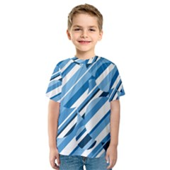 Blue pattern Kid s Sport Mesh Tee