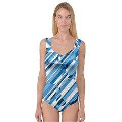 Blue pattern Princess Tank Leotard
