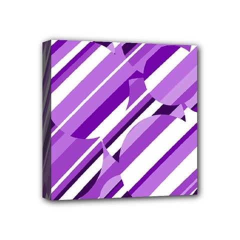 Purple pattern Mini Canvas 4  x 4