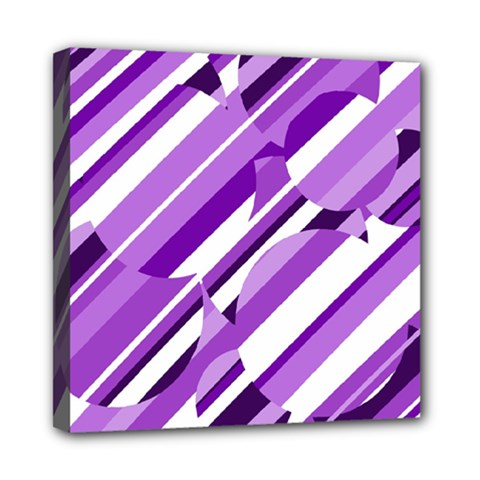 Purple pattern Mini Canvas 8  x 8