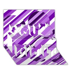 Purple Pattern You Did It 3d Greeting Card (7x5)