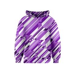 Purple pattern Kids  Pullover Hoodie
