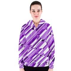 Purple pattern Women s Zipper Hoodie