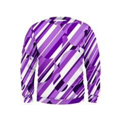 Purple pattern Kids  Sweatshirt