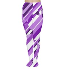 Purple pattern Women s Tights