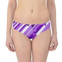 Purple pattern Hipster Bikini Bottoms