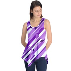 Purple Pattern Sleeveless Tunic