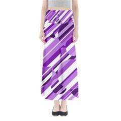 Purple pattern Maxi Skirts