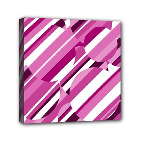 Magenta pattern Mini Canvas 6  x 6