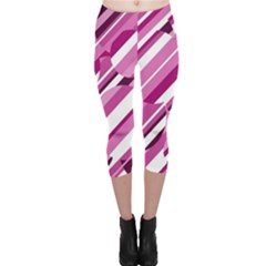 Magenta pattern Capri Leggings
