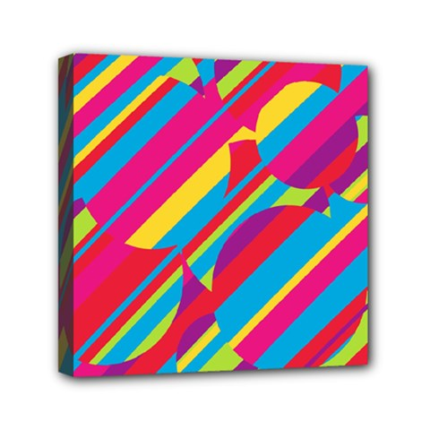 Colorful summer pattern Mini Canvas 6  x 6