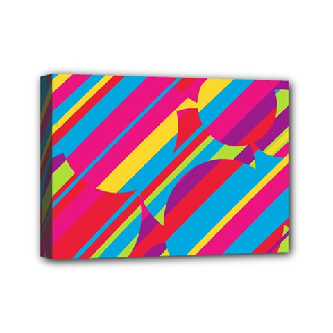 Colorful summer pattern Mini Canvas 7  x 5
