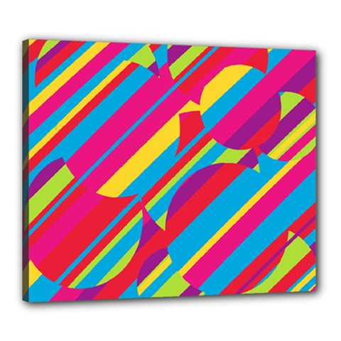 Colorful summer pattern Canvas 24  x 20