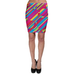 Colorful summer pattern Bodycon Skirt