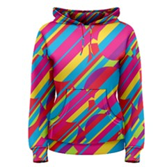 Colorful summer pattern Women s Pullover Hoodie