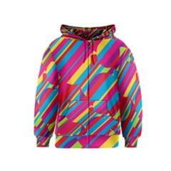 Colorful summer pattern Kids  Zipper Hoodie