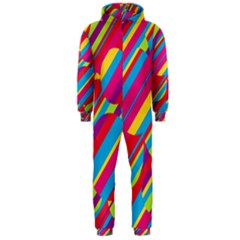 Colorful summer pattern Hooded Jumpsuit (Men)