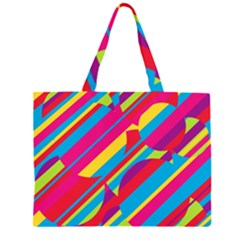 Colorful summer pattern Large Tote Bag