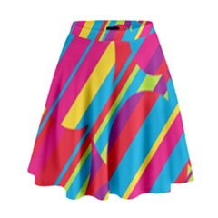 Colorful Summer Pattern High Waist Skirt