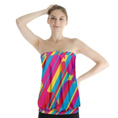 Colorful summer pattern Strapless Top
