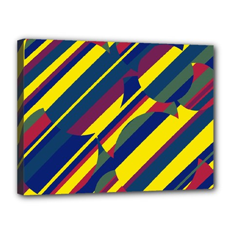 Colorful pattern Canvas 16  x 12