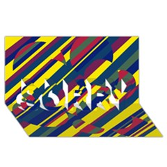 Colorful pattern SORRY 3D Greeting Card (8x4)