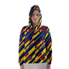 Colorful pattern Hooded Wind Breaker (Women)