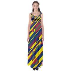 Colorful pattern Empire Waist Maxi Dress
