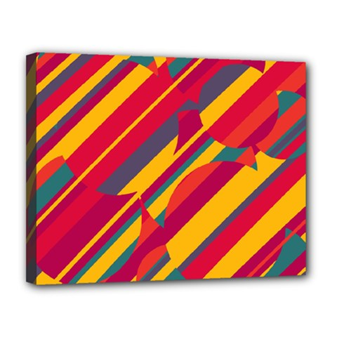 Colorful hot pattern Canvas 14  x 11