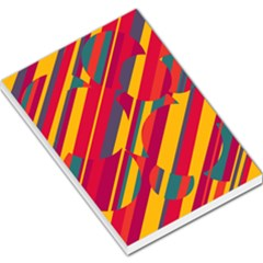Colorful hot pattern Large Memo Pads
