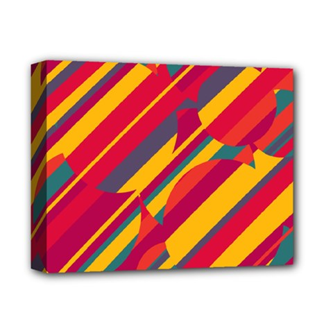 Colorful hot pattern Deluxe Canvas 14  x 11