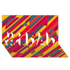 Colorful hot pattern #1 DAD 3D Greeting Card (8x4)