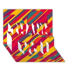 Colorful hot pattern THANK YOU 3D Greeting Card (7x5)
