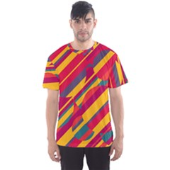 Colorful hot pattern Men s Sport Mesh Tee