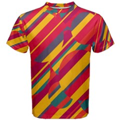 Colorful hot pattern Men s Cotton Tee