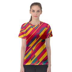 Colorful hot pattern Women s Sport Mesh Tee