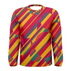 Colorful hot pattern Men s Long Sleeve Tee
