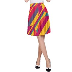 Colorful hot pattern A-Line Skirt
