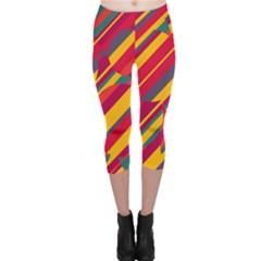 Colorful hot pattern Capri Leggings